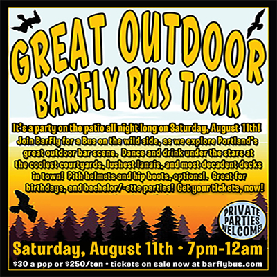 Great Outdoor Tour BarFly Bus Pub Crawl Poster