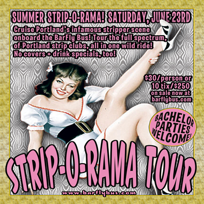 Summer StripOrama BarFly Bus Pub Crawl Poster