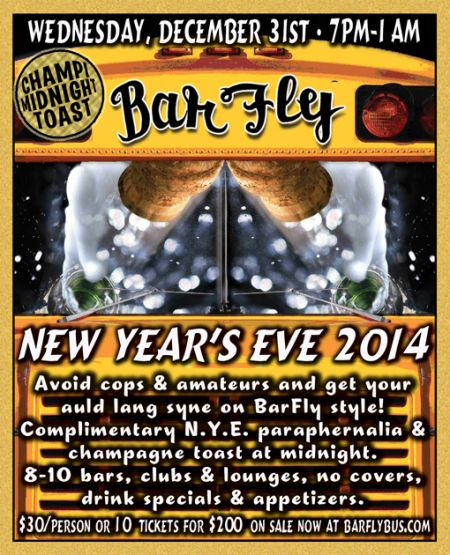 Win Tickets: 2010 Portland New Years Party On BarFly Bus ($60!)