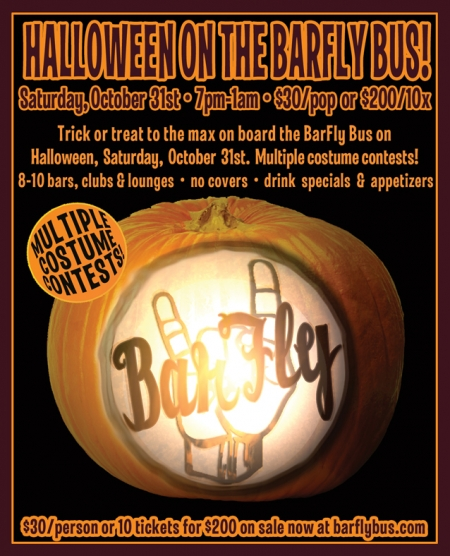 Portland Halloween Party: Take The Barfly Bus + Costume Contest
