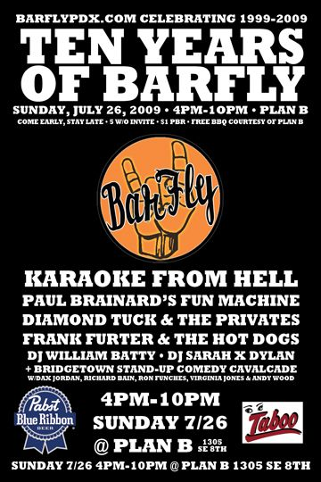 BarFly 10th Anniversary Party